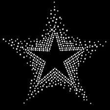 Hotfix STRASS Motiv Stern star Bügelbild Ornament Strassbild Applikation