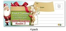 4 PACK - FUNNY Christmas Cards Mail Postcards - Gift Novelty Funny Santa Claus