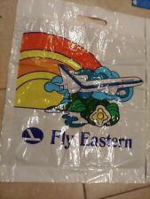12 Vintage Eastern Airlines Plastic Shopping Carry all Bag dozen L1011 logo Fly