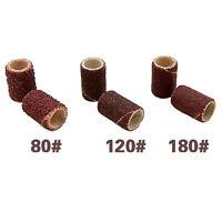 100pcs Pro Nail Art Sanding Bits 80#/120#/180# Electric Drill File Machine *H