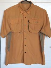 Natural Gear Outdoor Shirt Mens XL Orange Short Sleeve Button Front Fishing