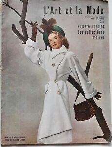1946 L'Art et la Mode 40s vintage Paris Haute Couture fashion Collections l' art