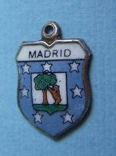 Vintage Madrid Spain shield silver charm
