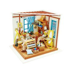 Creative Dollhouse DIY Kit Miniature Tailo's Shop Mini House Kits Gifts for Adul