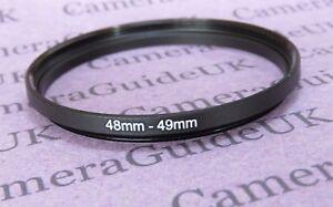 48mm auf 49mm Stecker-Buchse Stepping Step Up Filter Ring Adapter 48mm auf 49mm