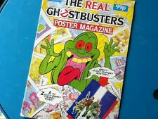 THE REAL GHOSTBUSTERS Poster Magazine - Marvel UK 1984