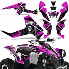 Graphic Kit CanAm Renegade X/R ATV Quad Decals Wrap Can Am 500/800/1000 REAP PNK