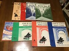 LOT OF 8 VINTAGE PIANO COURSE BOOKS RECITAL PALMER-HUGHES JOHN SCHAUM