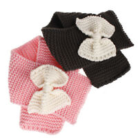Fashion Winter Warm Kids Children Bow-tie Decor Knot Knitted Wool Scarves--