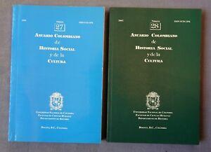2 BOOKS: ANUARIO COLOMBIANO DE HISTORIA SOCIAL Y DE LA CULTURA #27 & #28