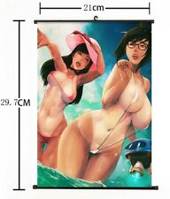 "Hot Anime Blizzard Game Overwatch D.VA Mei Home Decor Poster Wall Scroll 8""×12"""