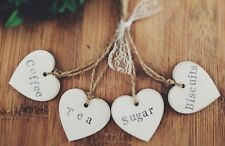 TEA,COFFEE,SUGAR,BISCUITS WOODEN TAGS UNIQUE PRESENT GIFT MOTHERS DAY