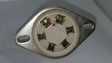 6 Pin Amphenol Usa Nos Ceramic Socket & Mount fit Hammond B3 to Leslie 122 & 147