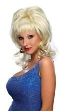 Country Singer Wig Blonde Dolly Parton Fancy Dress Halloween Costume Accessory