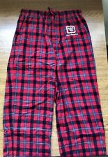Walt Disney World Pajama PJ Pants Red Flannel Plaid S Christmas Winter Mickey