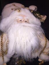 "Santa with Ivory and Gold Coat Roman Inc. #85396 Elegant 16"" Christmas Figure"