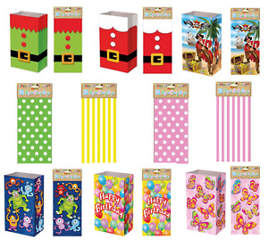 Boys Girls Christmas Xmas Themed Food Loot Lunch Party Treat Gift Bag Bags