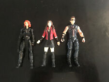 Marvel Universe Figures Hawkeye Black Widow Scarlet Witch Avengers Movie Version