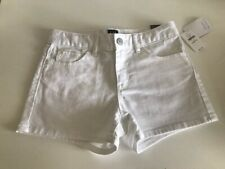 NEW GAP Denim Girls Size 12 Regular Shortie Shorts White NWT