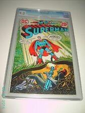 SUPERMAN 257 CGC 9.2 NEAR MINT- 1972 DC COMICS OFF WHITE TO WHITE PAGES BLUE LAB
