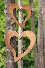 Dekoherz zum hängen aus Metall Edelrost Patina, im Set, Rost Herz Geschenkidee
