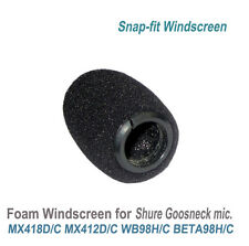 Snap-Fit Windscreens for Shure MX412 MX418 WB98 BETA98H Gooseneck Microphone