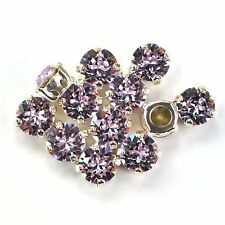 Swarovski 39ss Sew On Crystals 1088 Violet Xirius 6 Pieces