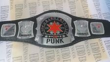 New Replica CM Punk Belt, WWE CM Punk Champion Belt, Adult Size, Metal Plates
