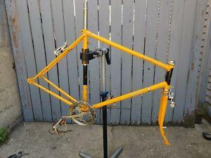 Raleigh Ltd Record Bike Frame 58cm Vintage Yellow Nottingham England
