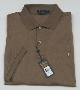 Polo Ralph Lauren Men's Big/Tall Brown Cotton SS Classic Fit Polo Shirt Size 3LT