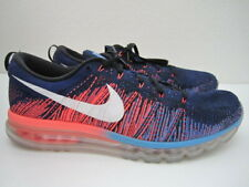 Mens size 15 Nike Flyknit Air Max blue running shoes 620469