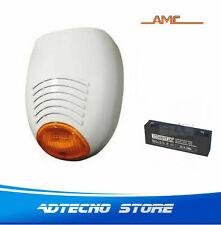 AMC SR136 - Sirena antifurto autoalimentata antiapertura lampeggiatore Led +batt