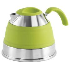 Outwell Collaps 2.5 L Camping Kettle | Collapsible Silicon Space Saving | GREEN