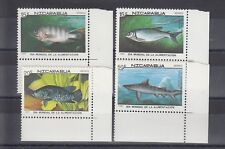 TIMBRE STAMP 4 NICARAGUA Y&T#1805-08 POISSON FISH NEUF**/MNH-MINT 1987 ~A95