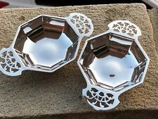 Pair Sterling Silver Bon Bon Dishes - Edward Viner's - Sheffield - 1937