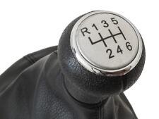 GEAR SHIFT KNOB GAITER BLACK CHROME RING SILVER 6G FOR VW PASSAT B5 FL 00-05