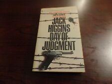 Paperback Day of Judgement By Jack Higgins BRAND NEW #4100