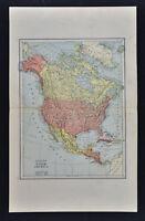 1885 Watson Map - North America - United States Canada Mexico Alaska Cuba Arctic