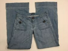 Women's FIDELITY DENIM Size 28 Rio-Trouser Low Rise Wide Leg Pants