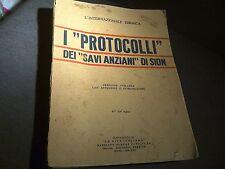 L'Internazionale Ebraica - I Protocolli dei Savi Anziani di Sion - 1938