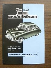 Standard Vanguard Ad Foldout Brochure 1950s