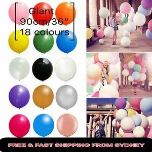 19color 90cm Giant Balloon Matt Latex Balloons Large Birthday Wedding Party Circ