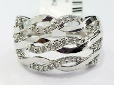 Right Hand Band Ring Anniversary Gift White Gold Diamond Twist Infinity Fashion