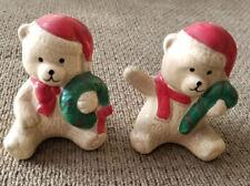 Christmas Teddy Bear Salt & Pepper Shakers