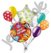 7 pc Jungle Party Animals Happy Birthday Balloon Bouquet Party Decoration Safari