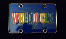 Disney Gear Up For Adventure World of Color License Plate Pin WRLD O CLR DCA DLR