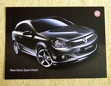 Vauxhall Astra Sport Hatch Launch brochure January 2005