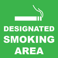 "Designated Smoking Area Sign 8"" x  8"""