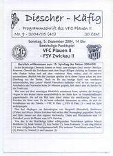 BL Chemnitz 2004/2005 VFC Plauen II - FSV Zwickau II, 05.12.2004