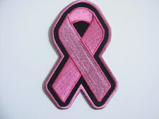 PINK RIBBON BREAST CANCER AWARENESS PATCH--PLAIN